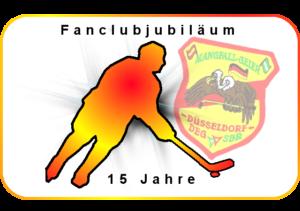 Logo 15 Jahre Mangfallgeier Düssseldorf Party