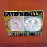 Pin des Play Off Finale von 1992 zwischen Rosenheim und