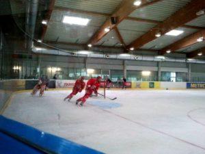Eistraining in der zweiten Eishalle